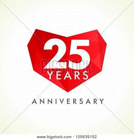 25 anniversary heart logo