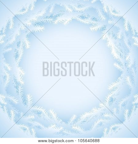 Abstract Background With Pine Branches Silhouette