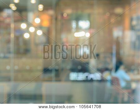 Blurred Cafe Restaurant Background