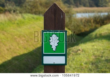 Green nature sign