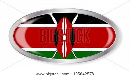 Kenya Flag Oval Button