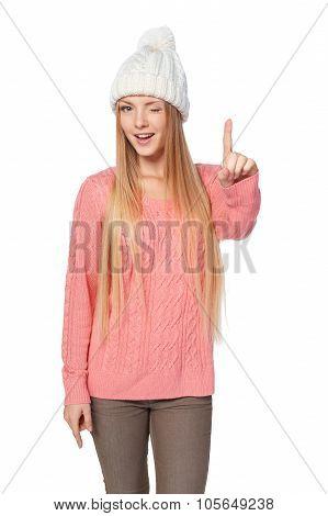 Idea concept woman
