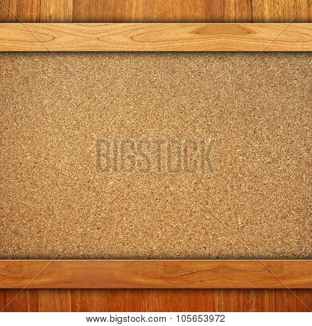 wood frame with compressed board