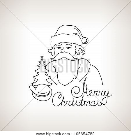 Santa Claus  On A Light Background