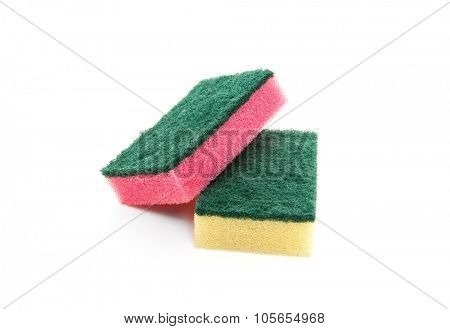 Standard scouring sponge. All on white background