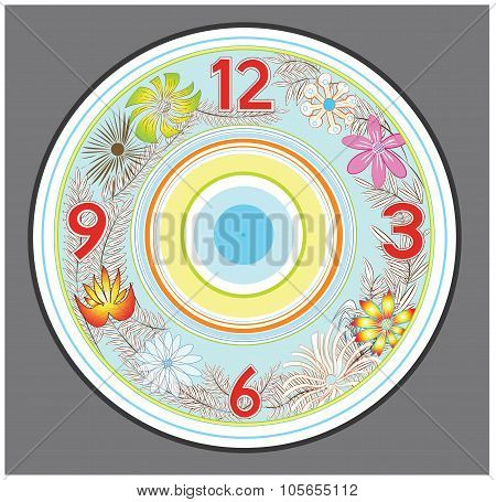 Flower Clock Design