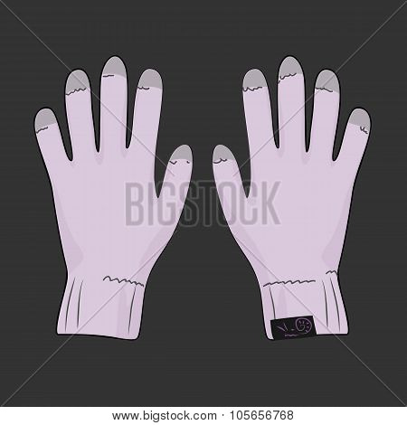 Pink gloves for touch screen