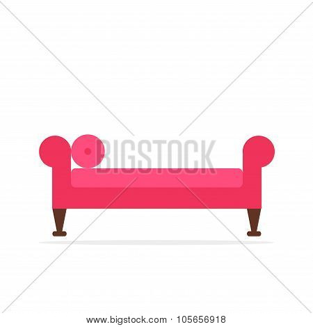 Antique couch. Isolated classic sofa icon.