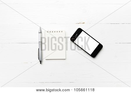 Cellphone With Notepad And Pen