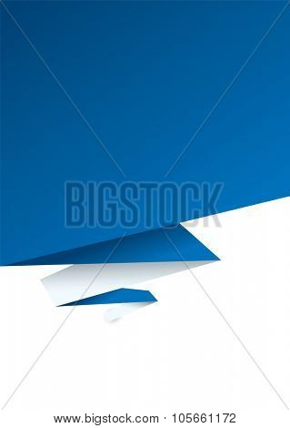 Blue paper background with shadow effect and room to add text