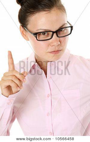 Strict Teacher Wearing Eye Glasses