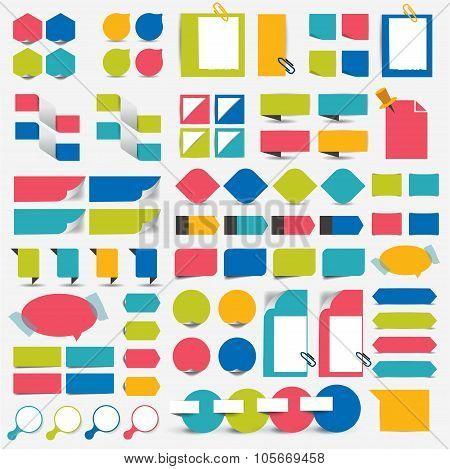 Mega Set Infographics Flat Design Elements.