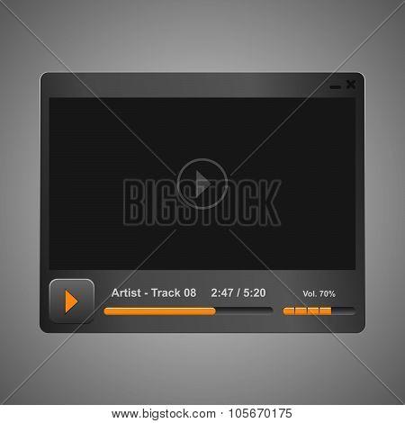 grey audio, video player