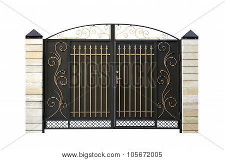 Wrought,  Iron  Gate.