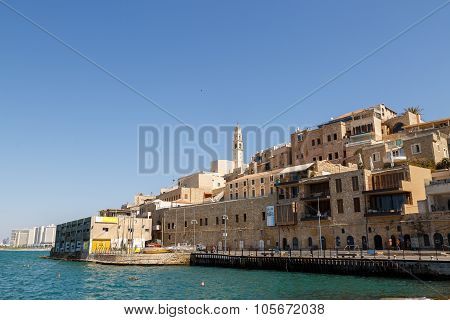 Jaffa, Israel September 17, 2015: View To Jaffa From Sea Port
