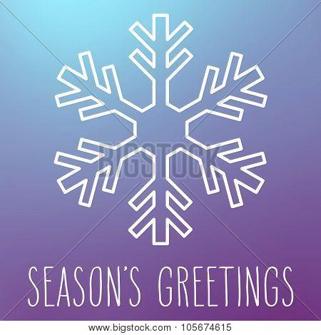 Snowflake And Season's Greetings