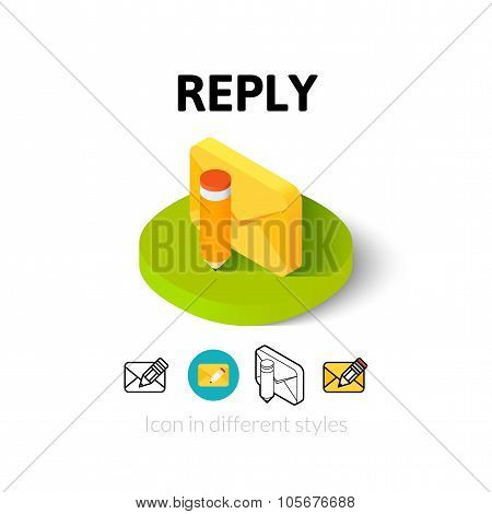 Reply icon in different style