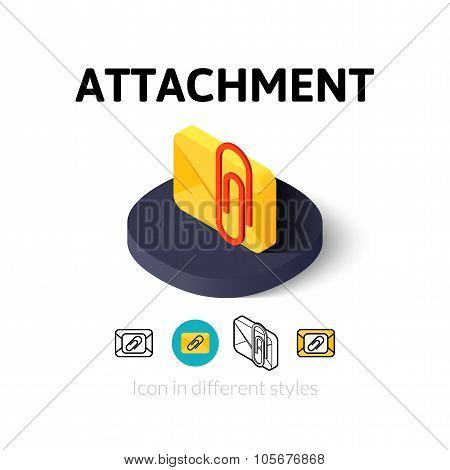 Attachment icon in different style