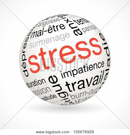 French Stress Theme Sphere With Keywords