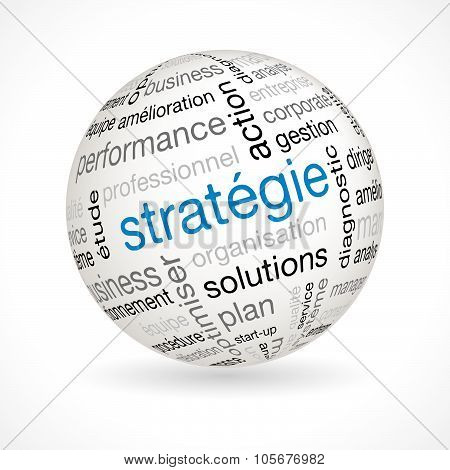 French Strategy Theme Sphere With Keywords
