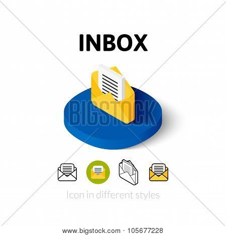 Inbox icon in different style