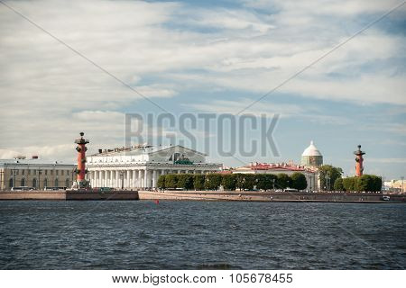The spit of Vasilievsky Island in Saint Petersburg, Russia.