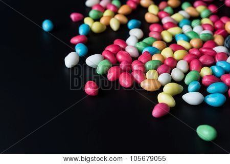 Background with bonbons