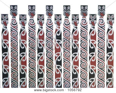 Maori Design Picket Fence