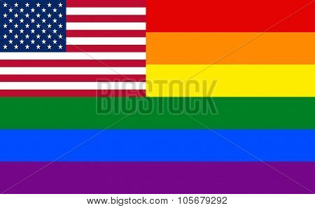 Popular Verison Of The Gay Pride Movement Flag