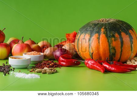 Pumpkin With Onion And Pepper