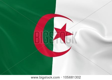 Waving Flag Of Algeria - 3D Render Of The Algerian Flag With Silky Texture