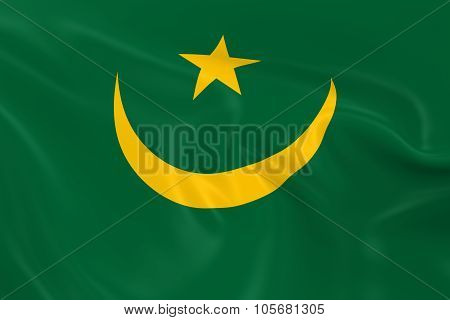 Waving Flag Of Mauritania - 3D Render Of The Mauritanian Flag With Silky Texture