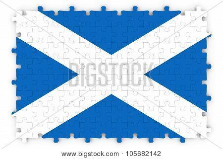 Scottish Flag Jigsaw Puzzle - Flag Of Scotland Puzzle Isolated On White