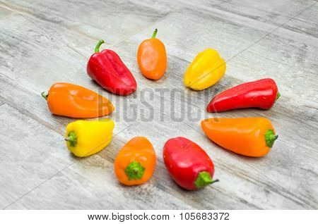 Capsicum Circle Background