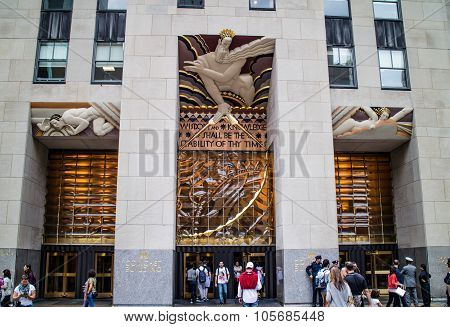 Rockfeller Center Building Perspective New York