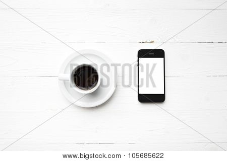 Cellphone With Coffee Cup