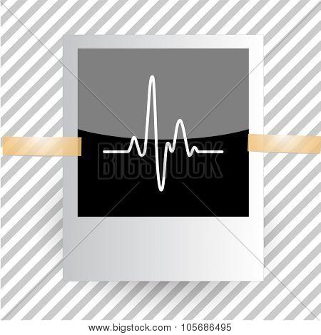cardiogram. Photoframe. Vector icon.