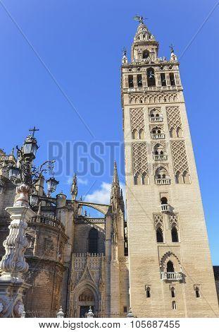 Giralda tower in Sevilla, Spain.