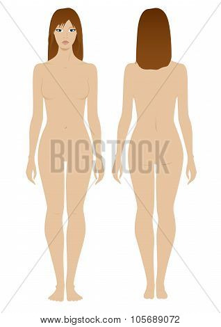 Female Model Template For Fashion Clothing Design