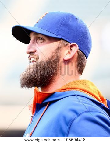 DENVER-AUG 21: New York Mets pitcher Jon Niese before a game against the Colorado Rockies at Coors Field on August 21, 2015 in Denver, Colorado.