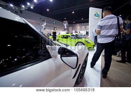 Bangkok - May 20 : Lotus Elise Sc With A Model On Display During The
