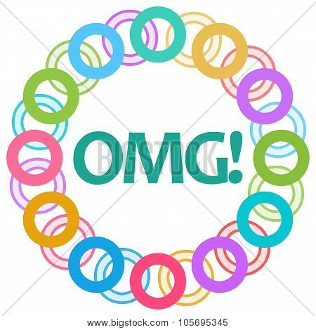 OMG Colorful Rings Circular