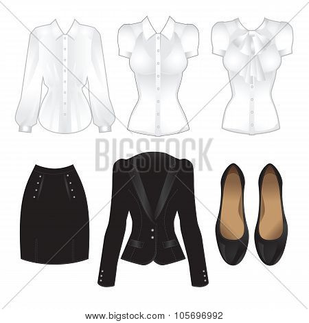 Set of office clothes