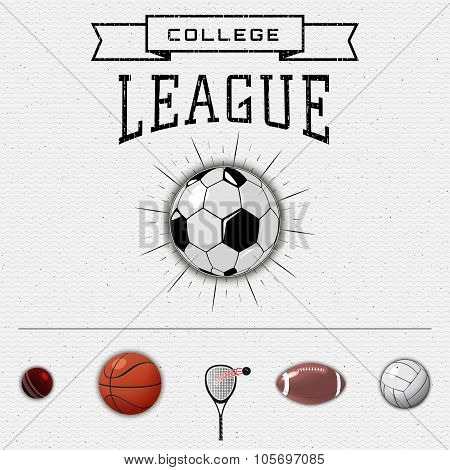 League college insignia  and labels for any use