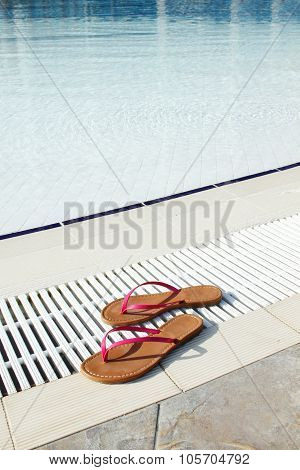 Pool and slippers