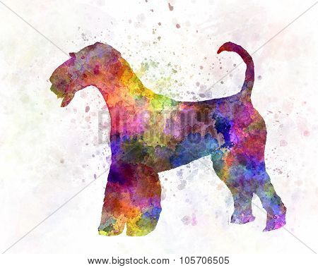 Airedale Terrier 01 In Watercolor