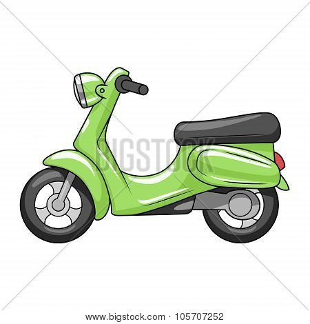 Scooter cartoon vector illustration