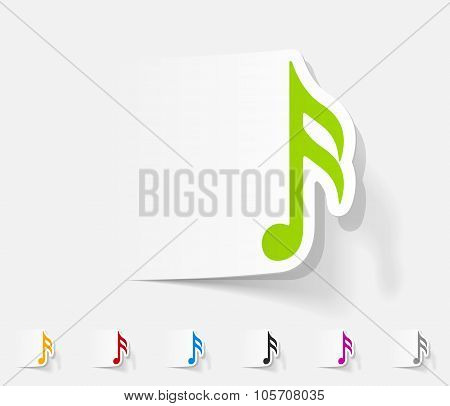 realistic design element. musical note