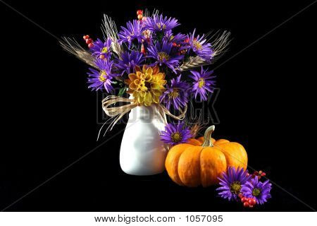 Purple Aster In Vase