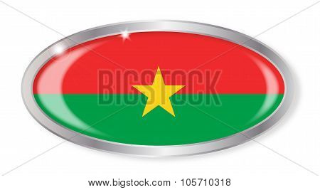 Burkina Faso Flag Oval Button